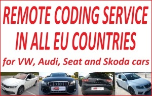 VCDS remote coding service in all EU countries